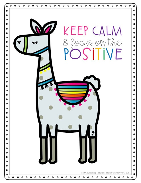 relieve stress in kids with llama activities