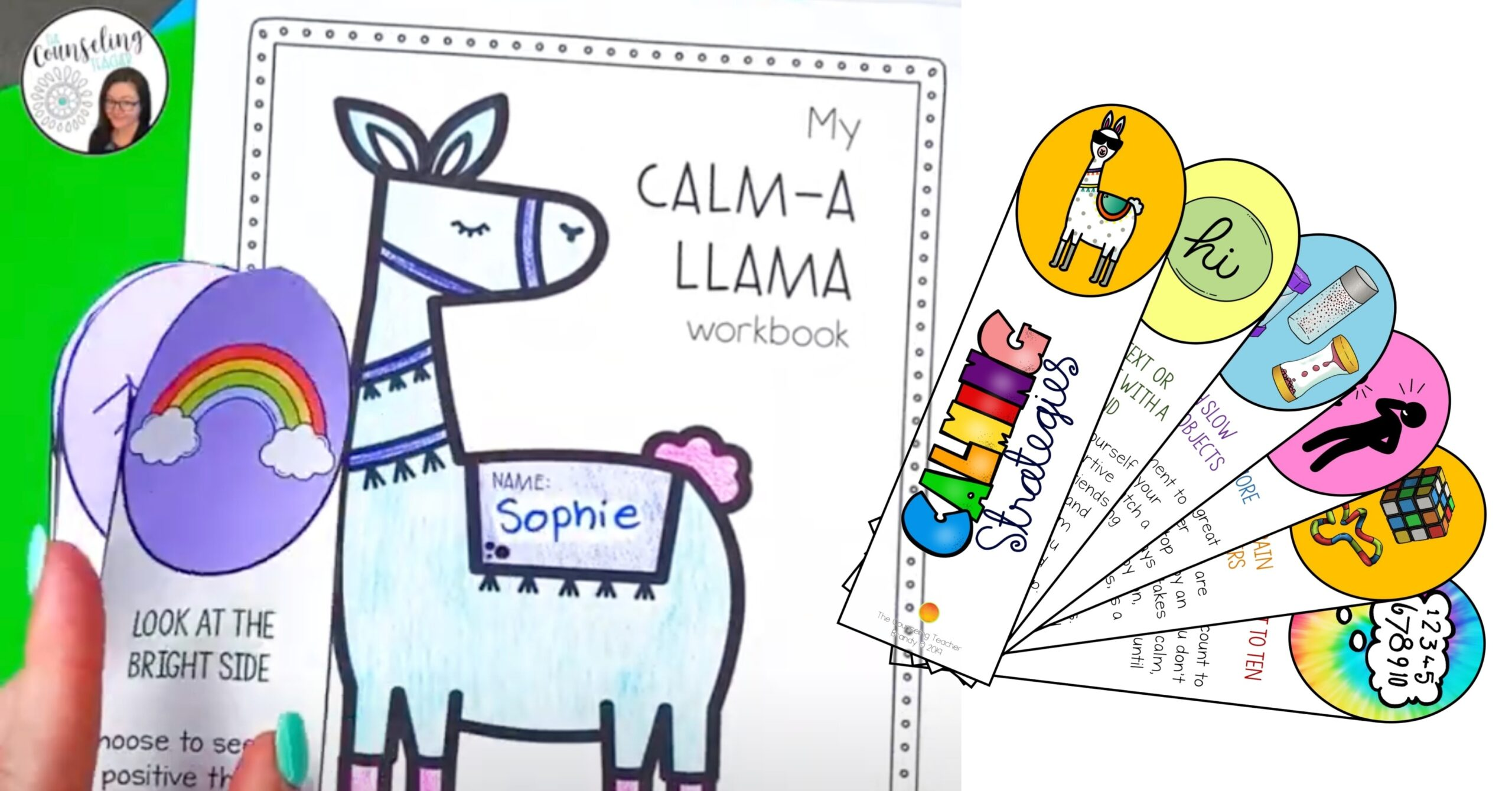 llama themed anxiety resources for kids