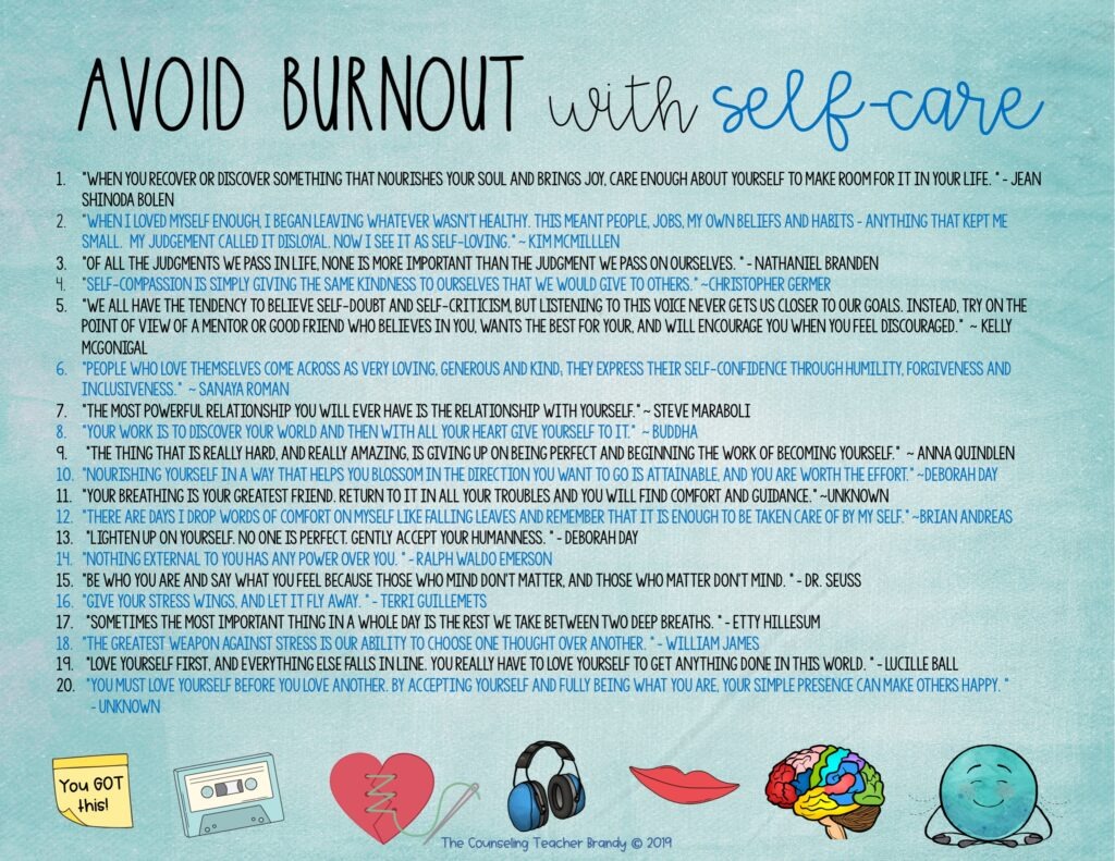 avoid burnout with self care