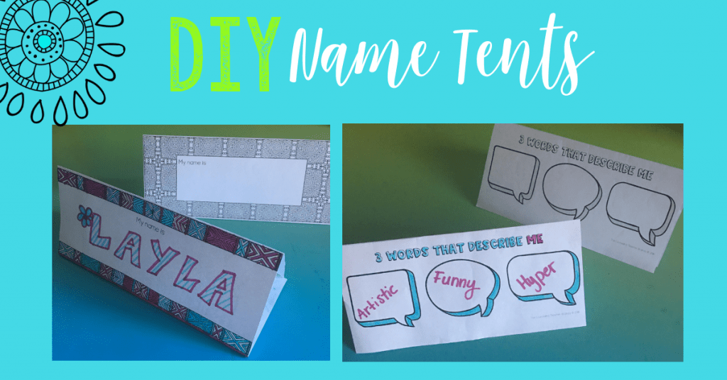 Student Relationship Building with Name Tents