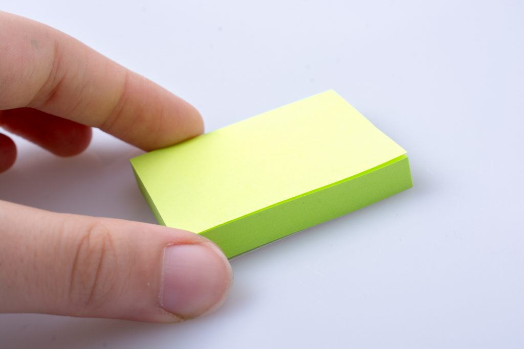 sticky note craft
