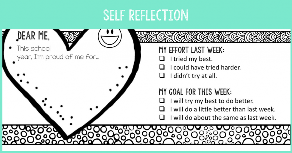 self-reflection activities for kids