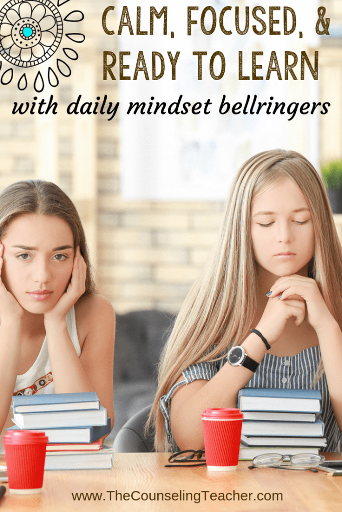 calm your class with growth mindset bellringers