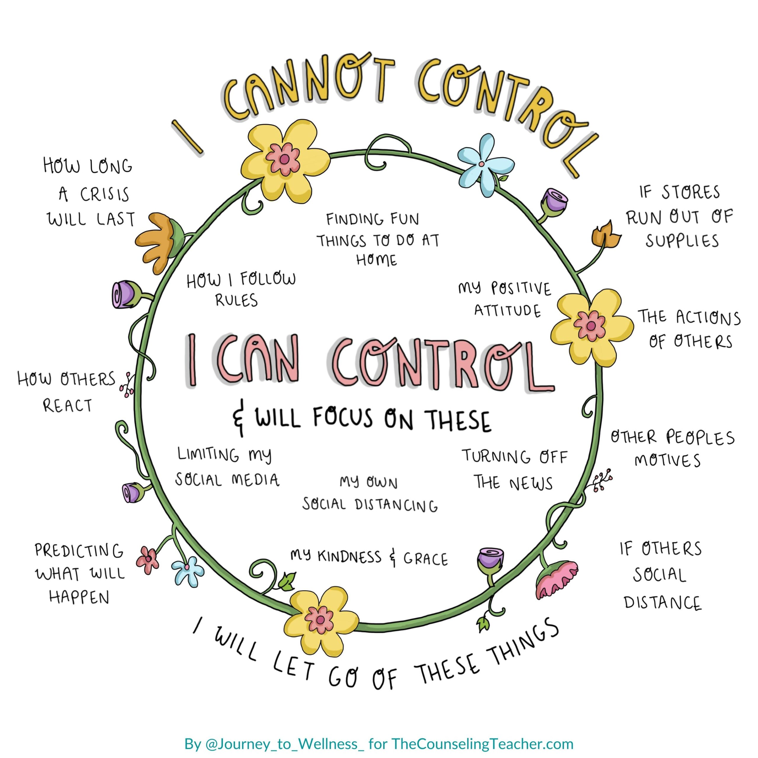 I can and cannot control