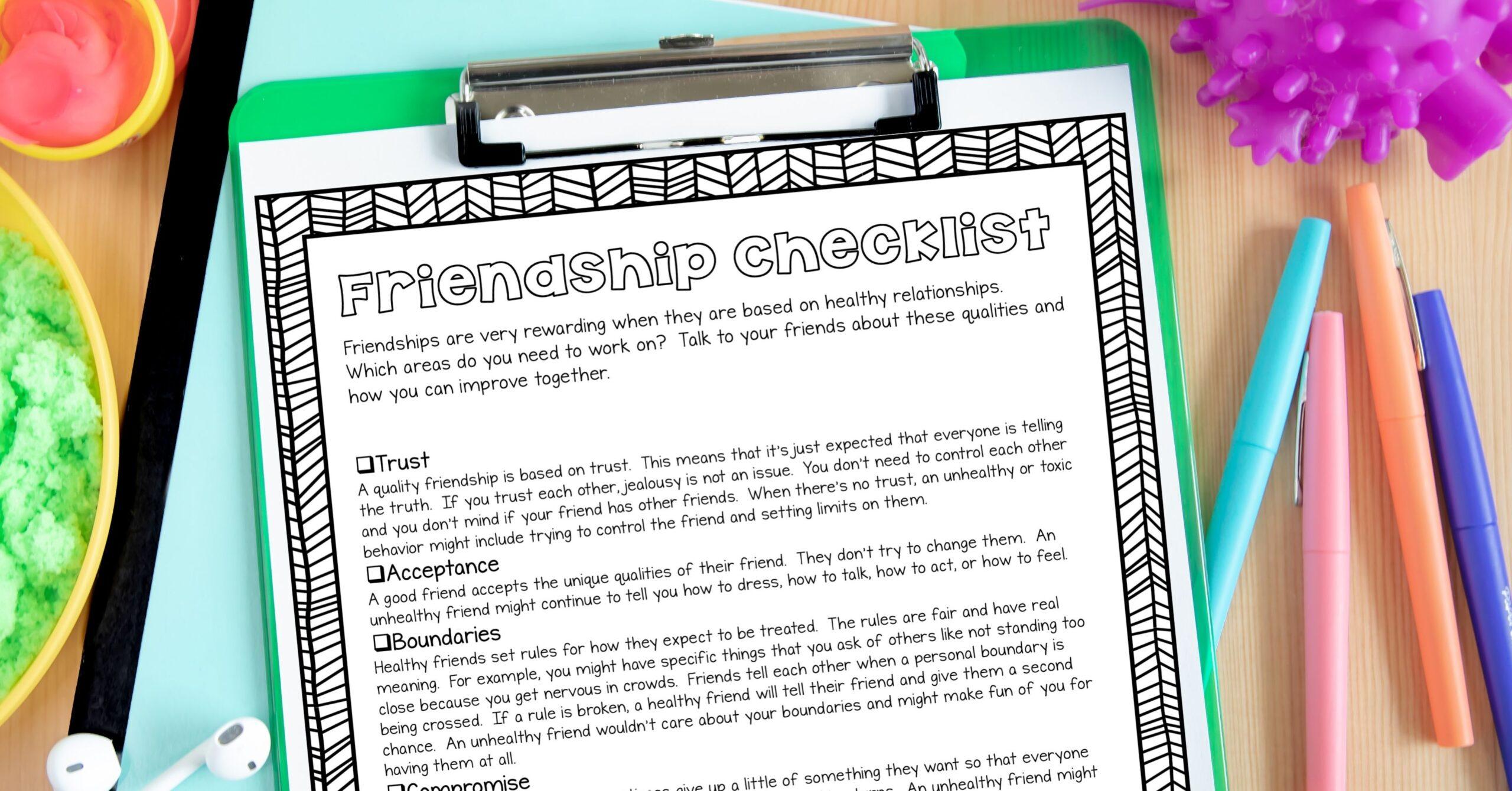 Friendship Checklist
