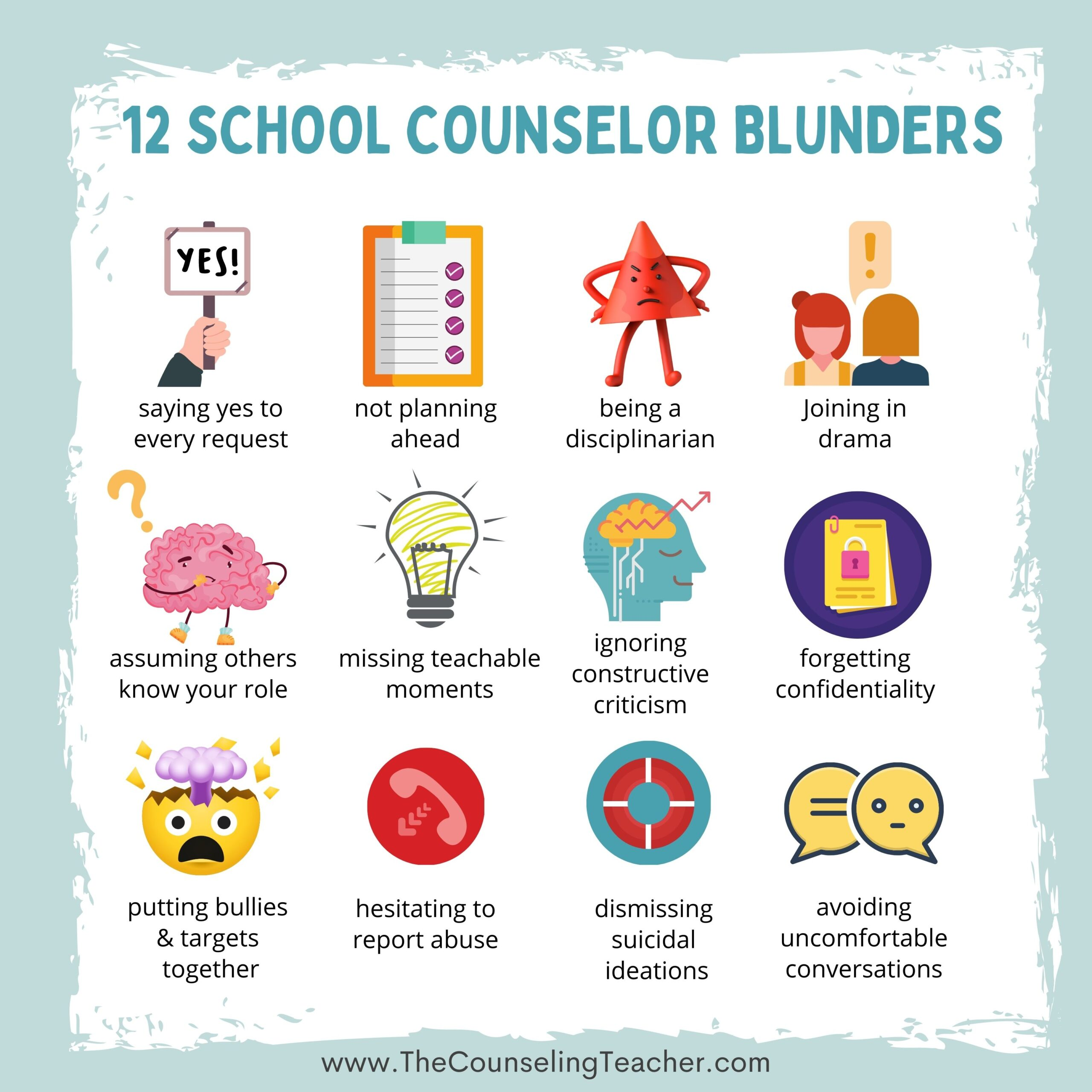 school counselor mistakes