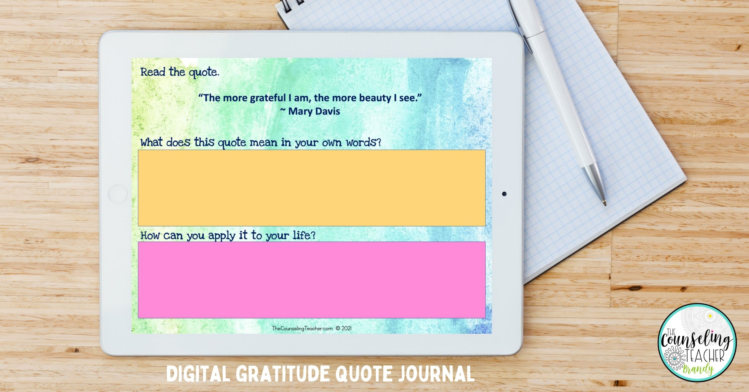 digital gratitude journal